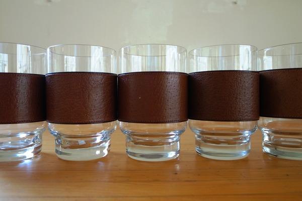 Leather×Glass / Drinking Tumbler(Austria '60)
