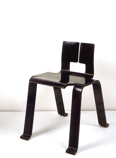 "Charlotte Perriand  [Side chair  "" Les Arcs ""]"