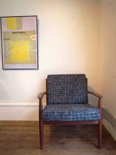 """Grete Jalk   Easy Chair """"Charcoal Fabrick"""""""