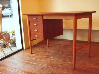 Teak & Oak Desk 1970's
