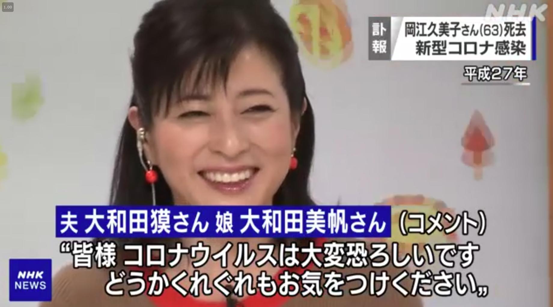 岡江 久美子 基礎 疾患 岡江久美子 - Wikipedia