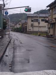 柿浦小学校前信号