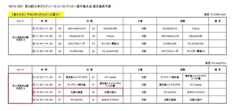 2021.鹿児島県クラブユース U-15 鹿児島県 05-29