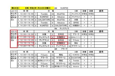 2021.01 第15回九州クラブユースU-13大会②