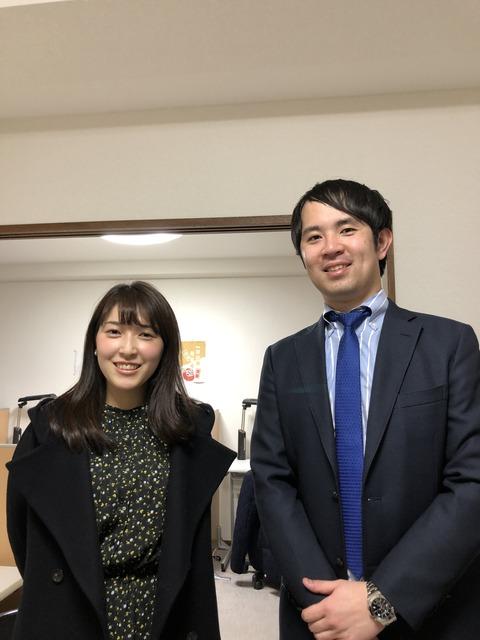 3月15日松橋さんと西野君