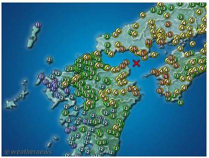里山徘徊:山口県発:伊予灘地震