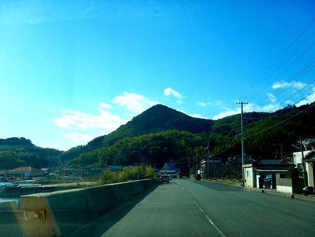北側から見た油宇嶽山