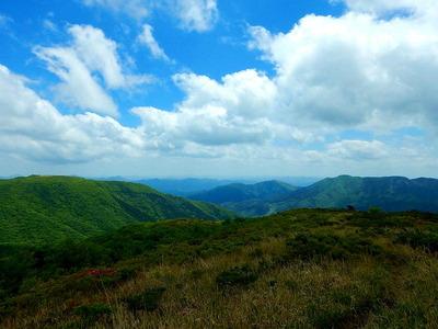 池ノ段へ (8)池ノ段から観る竜王山