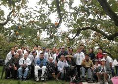 柿狩り集合写真