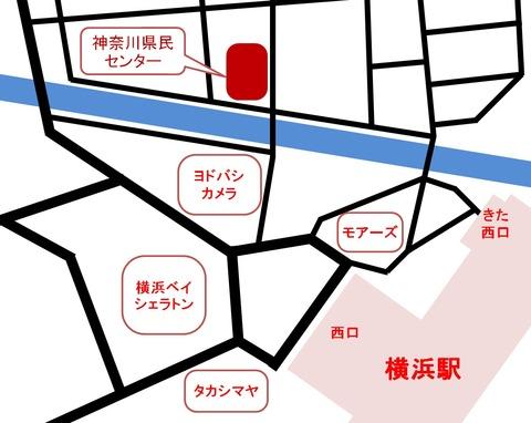 神奈川県民センター地図