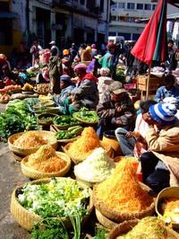 首都アンタナナリボの市場