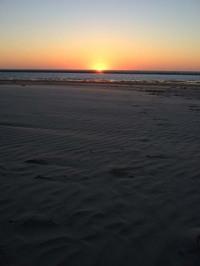 モザンビークの方角に沈む夕日