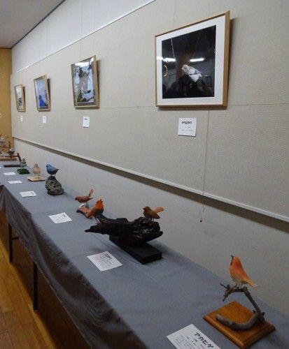 「野鳥に親しむ・バードカービング作品展2016」新宿御苑入り口のアートギャラリー