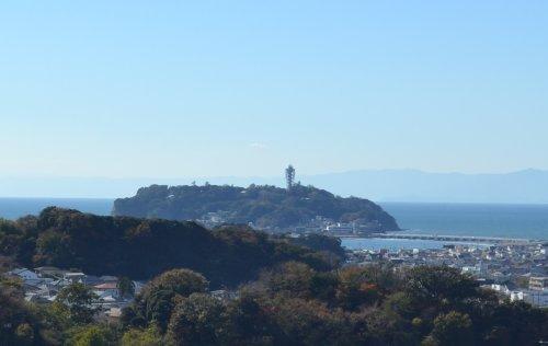 鎌倉山から江ノ島