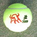 丑年の干支のテニスボール