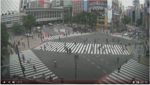 渋谷スクランブル交差点 ライブ映像