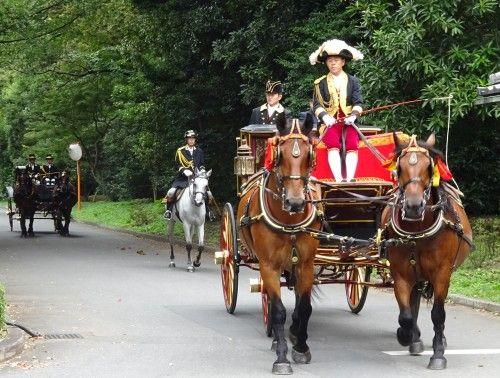 皇居東御苑での儀装馬車