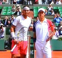 全仏オープンテニス 男子シングルス4回戦 錦織圭がナダルに完敗