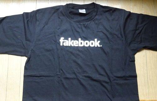 fakebookTシャツ