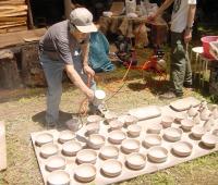 窯たき 施釉