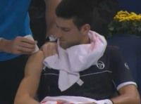 jスイスのバゼルのインドアテニス大会準決勝 ジョコビッチ