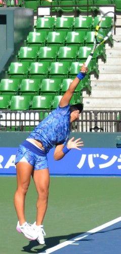 東レ パン・パシフィックオープン・テニス 澤柳璃子 対 アナスタシャ・ロディオノワ