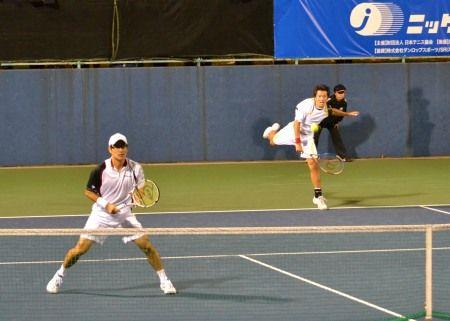 伊藤竜馬/近藤大生組  ニッケ全日本テニス選手権ダブルス準決勝