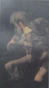 ゴヤの「わが子を食うサトゥルヌス」