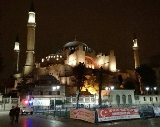 イスタンブールのアヤソフィア