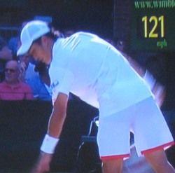 ウインブルドンテニス シングルス2回戦 添田豪 デルポトロに敗退