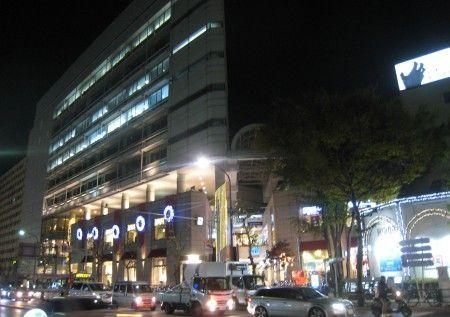 広尾の駅前のイルミネーション