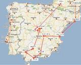 決定版スペイン8日間の旅行ルート