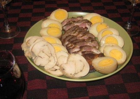 手作りスモーク(豚バラ、鳥の胸肉のハム、味付け卵など)