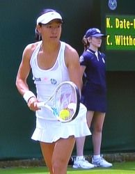 ウィンブルドン テニス シングルス一回戦 クルム伊達公子が勝利