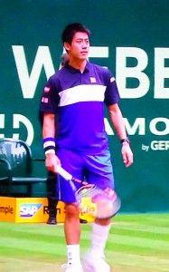 ゲリー・ウェバー・オープンのシングルス準決勝で錦織圭が途中棄権。