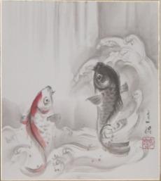 夫婦鯉の滝登り