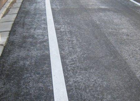 道路が凍っていました