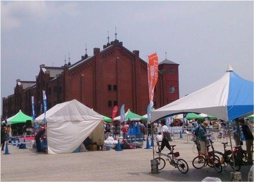 横浜赤レンガ倉庫 クラフト展、自転車のイベント
