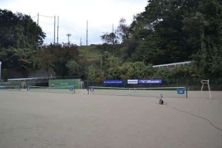 スピードガン 球速測定!! 慶應チャレンジャー国際テニストーナメント