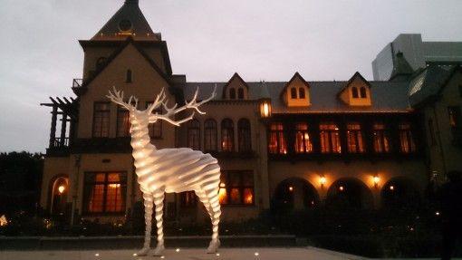 赤坂プリンスホテルの旧館 クラシックハウス 白いトナカイのオブジェ