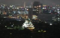 大阪城のライトアップ
