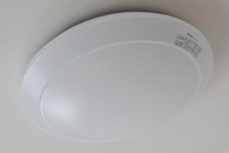 LEDシーリングライトのカバーの取り付け