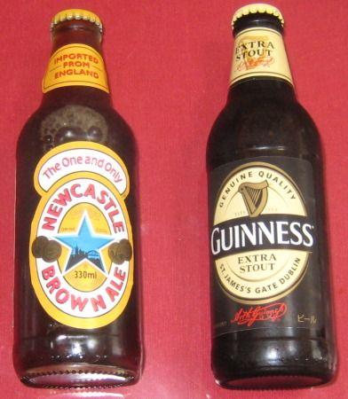 イギリスのビール、ニューキャッスル ブラウンエールとギネスのスタウト