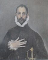 エル・グレコの「胸に手をあてた貴人の肖像」