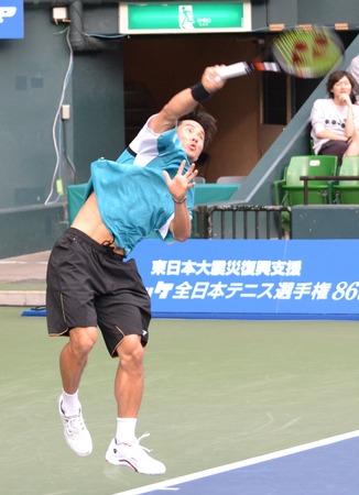 松井俊英 ニッケ全日本テニス選手権準決勝