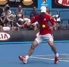 錦織圭の全豪オープンでの動画。昨日の股抜きショットその他のビデオ