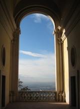 ヴィラ・デステからローマを望む