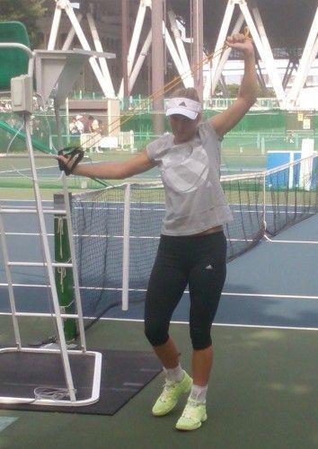 東レ パン・パシフィックオープン・テニス ウォズニアッキ