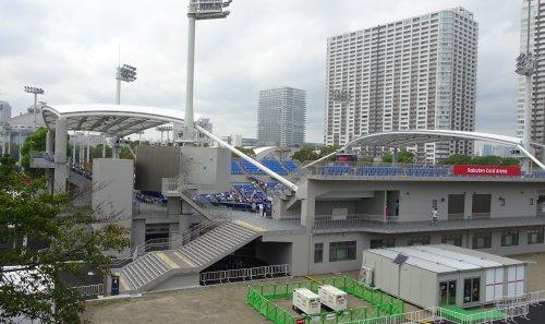 楽天・ジャパン・オープン・テニスの予選を観戦