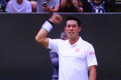 ウインブルドンのシングルス3回戦、錦織圭が勝利、4回戦へ